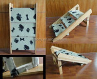 Fir Frame Three Steps Mini Carpeted Pet Ramp Pet Stairs Pet Supply of Dog Ramp