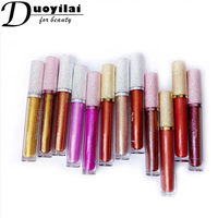 2018 China Compines Wholesale Diamond Waterproof Lipgloss Glitter Lip Gloss