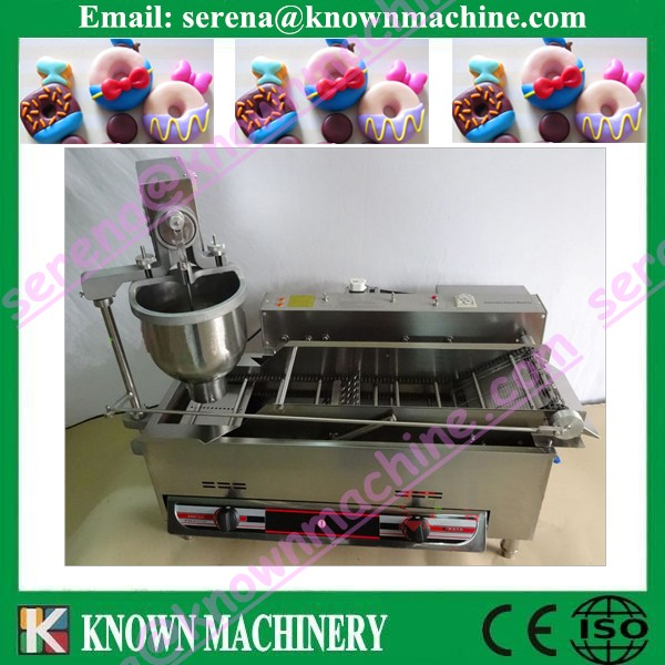 3 moulds gas donut glazer machine