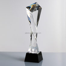 New arrival graduation souvenirs custom design crystal glass trophy