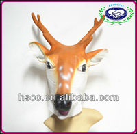 HEAD RUBBER LATEX MASKS DEER FULL OVERHEAD ADULT ANIMAL MASK ONE SIZE FITS MOST