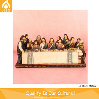 Factory Custom 3D Chromatic Polyresin Last Supper Decor