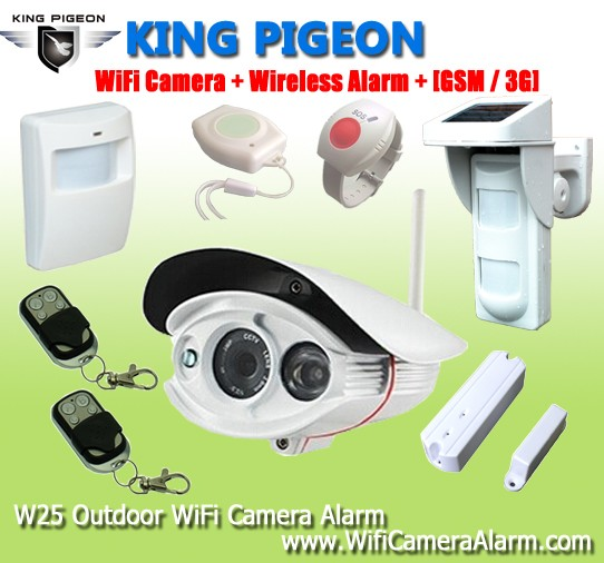 gsm alarm system intelligent auto-dial alarm system Wifi Camera