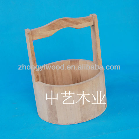 wholesale new designed unfinished wooden tubs with handel or sale
