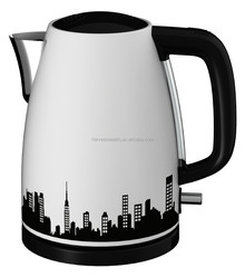 Hot Sale CB, CE, EMF, GS, LFGB, RoHS Certification and1.7 Liter Stainless Steel Cordless Jug Kettle - City Skyline