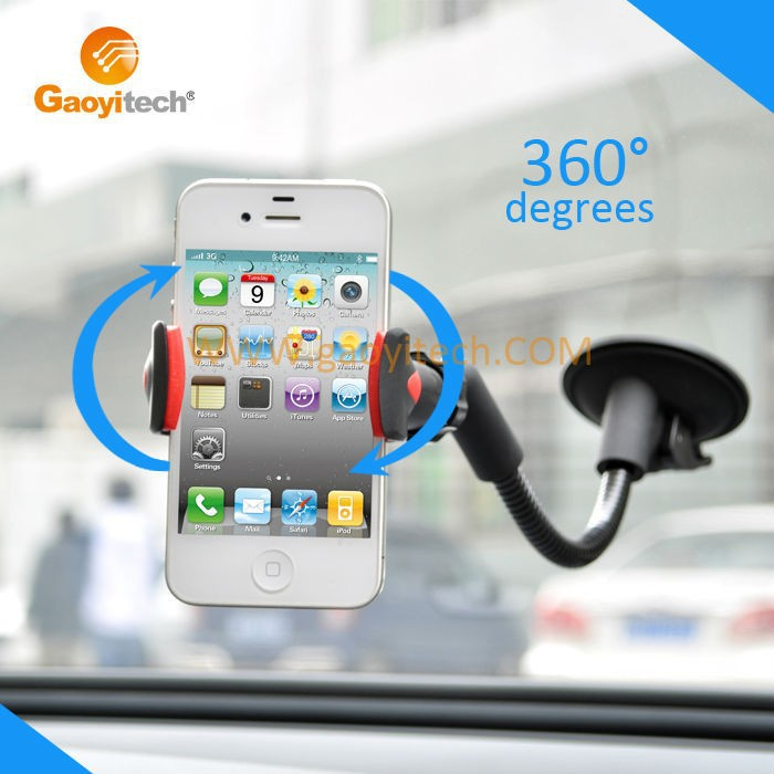 Silica gel Car mobile phone mount stand with silica gel suction cup cellphone holder