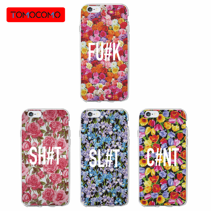 TOMOCOMO Trending Fashion Design Transparent Flower Printed Case For iphone 8 Case Tpu Clear