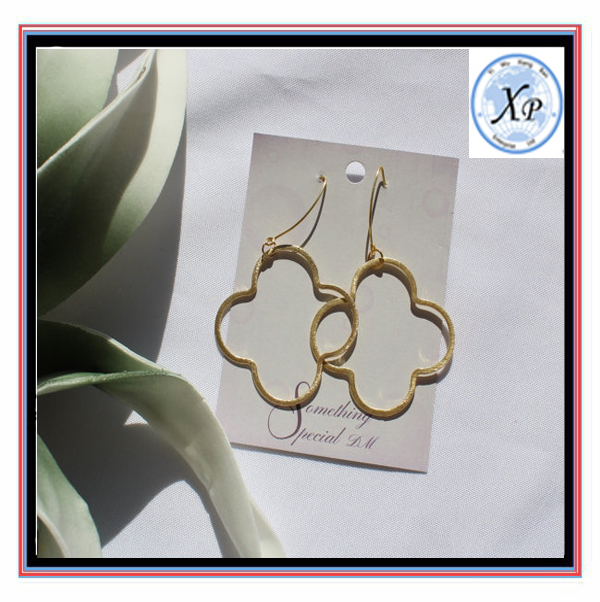 Quatrefoil or Clover In Silver and Gold Popular Earrings