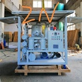 mobile type vacuum oil filtration machine for transformer oil and insulation oil