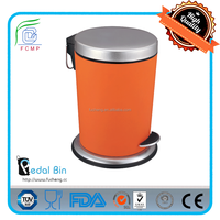stainding iron steel white metal rubbish bin for industrial place