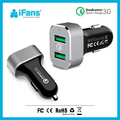 36W Quick Charge 3.0 USB Car Charger Ultra Slim 2-USB Port Power supplier Charger for Samsung S7/S6/S6,Note/5/4/3