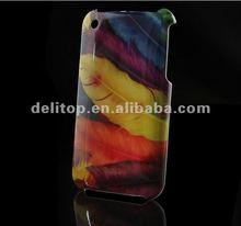 Colorful Feather Hard Back Case Cover Skin For Apple iPhone 3G 3GS