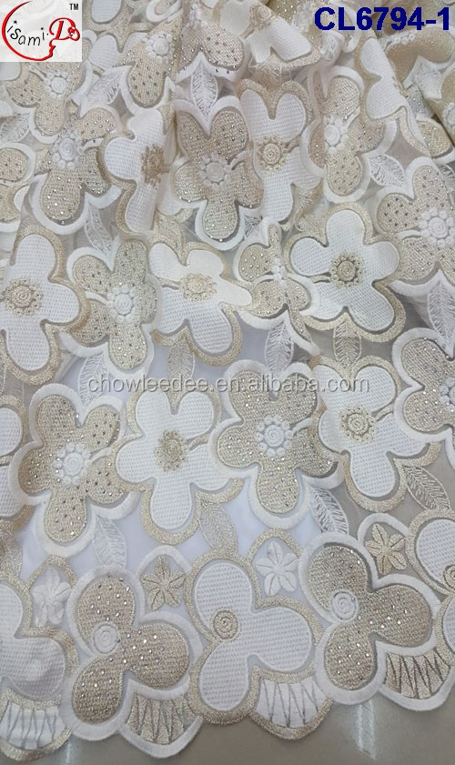 Popular Series pure white color tulle embroidery lace with stone/super quality fashion french net wedding lace tulle lace fabric