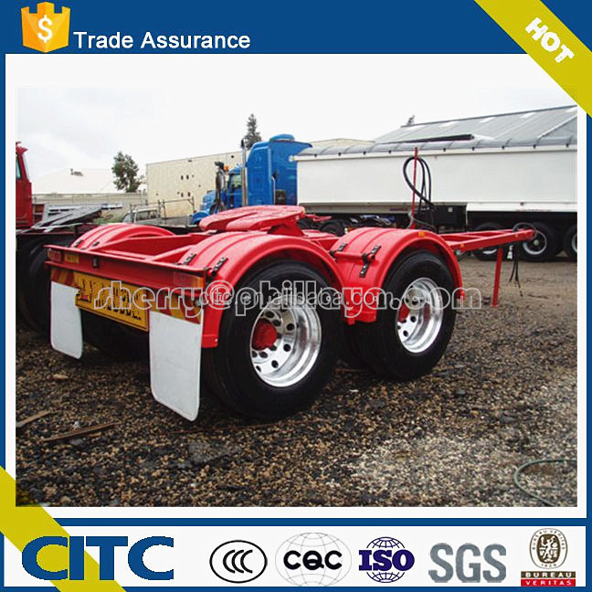 Axles & capacity optional towing semi trailer dolly for sale / drawbar dolly trailer