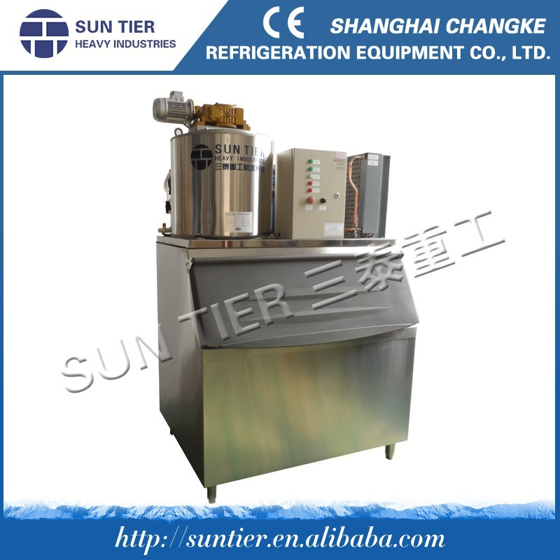 Industrial Fishery And Transportation Application Commecial Flake Ice Machine Concrete Cooling