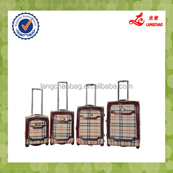 4 pcs High-end Fashionable ladies Famous Luggage Brands