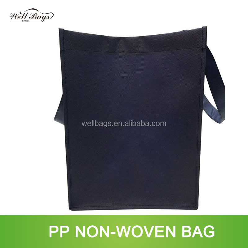 customized navy dark blue reusable shopping bag silkscreen printing alibaba trade assurance