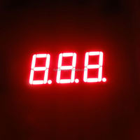 Red 5631 inch 3 triple digit electronic led programmable sign display board