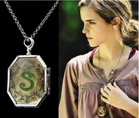 2015 Best-Selling Harry Movie Horcrux Crystal Chain Long 6*3.5 cm chain Necklace