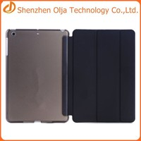 3 folding flip leather cover case for ipad mini,for ipad mini smart case