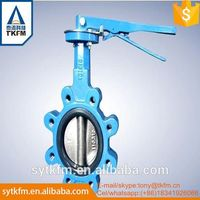 Plastic butterfly valve gear operated made in China
