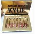 6 PCS Liquid Matte Lipstick birthday GIFT shiny gold packaing kylie jenner lip