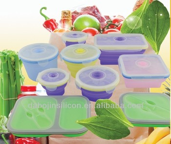 Top Quality Multi-function silicone folding lunch box