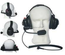 Behind the head heavy duty noise cancelling headset for Nokia Thr880i walkie talkie
