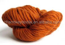 2015 China wholesale fancy wool blended alpaca yarn in ball with dark orange color
