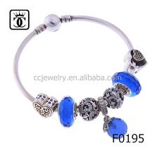 92.5 sterling silver evil eye bracelet axle counter 8-9mm pearl bracelet