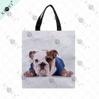 OEM custom animal printed shopping bags nonwoven wholesale cheap shopping bag foldable