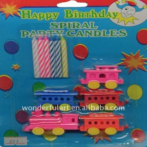 Animated wholesale happy birthday spiral party candle