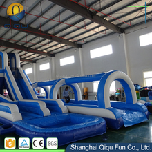 Manufacturer low price giant inflatable water slide for kids and adults