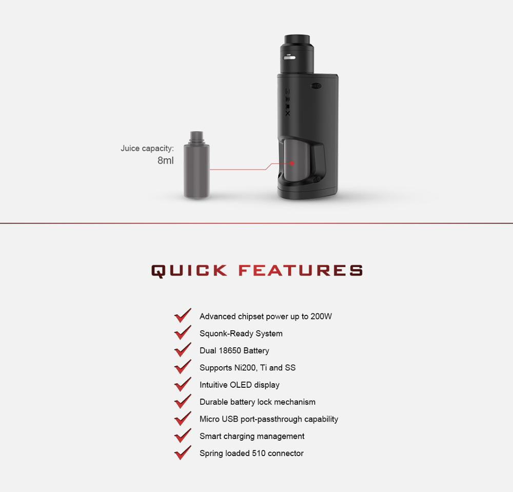 Most Popular Items Vape Kits Express Ali 200w Output Geekvape Gbox Squonker Kit With Radar Rda Tank