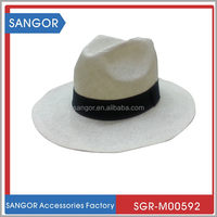 Hot-selling designer summer fedora straw panama hat