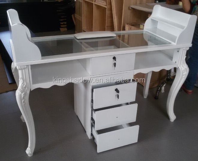 Beauty salon nail manicure table with vacuum buy nail for Beauty salon manicure tables