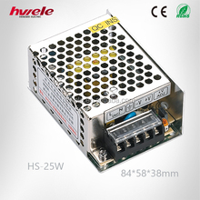 HS-25W compact single switching power supply with SGS,CE,ROHS,TUV,KC,CCC certification