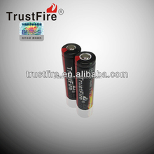 Trustfire original factory rechargeable 14500 li ion battery 3.7V 900ma li-ion battery button/flat top and protected