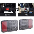 Lantsun Rear Bumper Fog Parking Reverse Brake Lamp for Jeep Wrangler JK