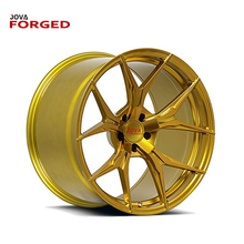 Forged Alloy 5x120 Wheels 20 Inch Black And Gold Rims