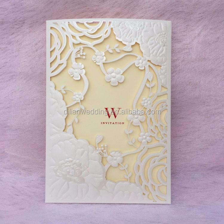 Ivory sweet love luxury wedding invitation box