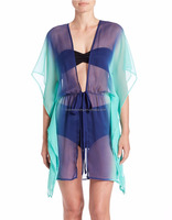Subliamtion printing two colors sheer bikinis cover up