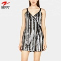 Bandage Stylish Sliver Sequin Dresses for Women