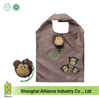 2016 New Arrival Cute Monkey Shape Foldable Shopping Bag Promotion