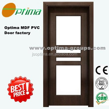 Optima cheap PVC panels glass door