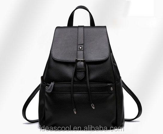 hot style beautiful girl PU leather <strong>backpack</strong>