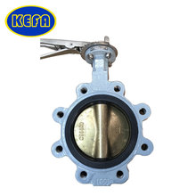 KEFA industrial stainless steel Lug Type Butterfly Valve with price for cement