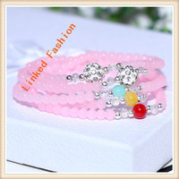 Popular boy and girl friendship charm crystal bead bracelets