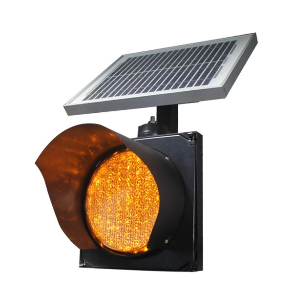 led road safety flashing warning light Solar traffic light