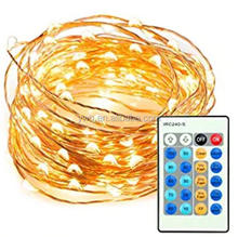 33ft 100 LED String Lights Dimmable led light with Remote Control